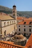 Franciscan kloster och springbrunn av Onofrio dubrovnik croatia royaltyfri bild