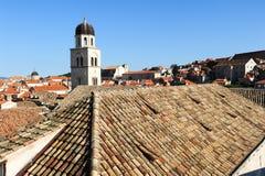 Franciscan kloster på den gamla staden av Dubrovnik arkivbilder