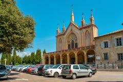 Franciscan kloster på kullen av Cimiez royaltyfri fotografi