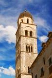 Franciscan klostertorn i Dubrovnik Royaltyfri Fotografi