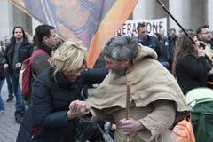 Franciscan man en vrouw Stock Foto's