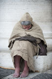 Franciscan man sleep Stock Photos