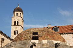 Franciscan monastery bell tower. Dubrovnik. Croatia Stock Photography