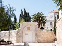 The Franciscan monastery near to the  Zion Gate  in the old city of Jerusalem, Israel Stock Photography
