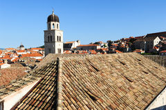 Franciscan monastery on the old town of Dubrovnik Stock Images