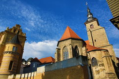 The Franciscan monastery in Pilsen, old architecture, Pilsen, Czech Republic Royalty Free Stock Images