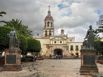 Franciscan monastery in Queretaro, Mexico. Monastery in the historic center of Queretaro stock photo