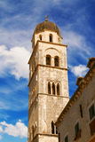 Franciscan Monastery tower in Dubrovnik Royalty Free Stock Photography