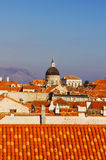 Franciscan Monastery tower in Dubrovnik Royalty Free Stock Images