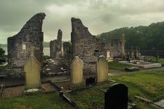 Franciscan priorskloster och kyrkogård Donegal stad Ståndsmässiga Donegal ireland royaltyfri foto