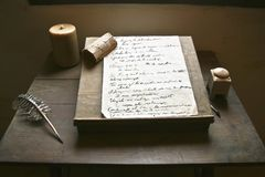 Franciscan's Writing Desk Royalty Free Stock Image