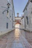 Franciscan street in Salzburg, Austria Royalty Free Stock Image