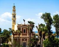 FranciscanSts Peter kyrka i Jaffa, del av Tel Aviv, arkivfoto