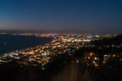 Francisco bay bridge ca nocy razem San Fotografia Stock