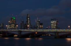 Francisco bay bridge ca nocy razem San Zdjęcie Royalty Free