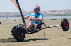 Francisco Costa on a landing kite Stock Images