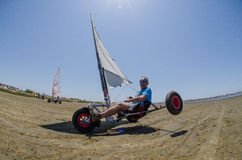 Francisco Costa on a landing kite Royalty Free Stock Photos