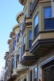 Francisco-Fernschreiber-Hügel-Reihen-Häuser Lizenzfreies Stockbild