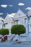 francisco houses den damtoalett målade san victorianen arkivfoton