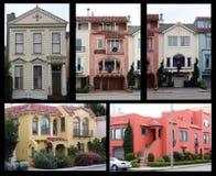 francisco houses san Arkivfoton