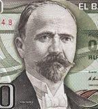 Francisco I Maderoportret op Mexico het bankbiljet van 500 peso 1983, Stock Foto's