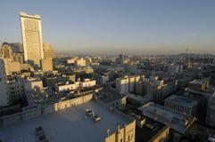 Francisco-im Stadtzentrum gelegene Dämmerung stockfotos