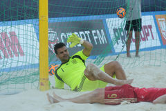 Francisco Jesus Donaire in the Euro Beach Soccer League Moscow 2014 Royalty Free Stock Images