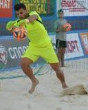 Francisco Jesus Donaire na liga de futebol Moscou da praia do Euro 2014 Fotos de Stock