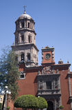 Francisco kościoła placu San queretaro Meksyku Fotografia Royalty Free