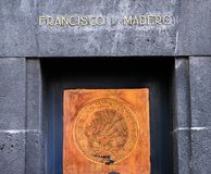 Francisco Madero 1910 Revolution Monument Mexico City Mexico. Mexico Seal 1910 Revolution Monument Mexico City Mexico. Built in 1932 with remains Revolutionary royalty free stock images