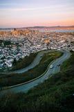 francisco osiąga szczyt San bliźniaka Zdjęcia Royalty Free