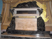 Francisco Pizarro's tomb in the Cathedral of Lima, Peru Stock Image
