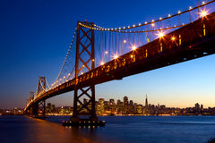 francisco podpalana bridżowa linia horyzontu San Zdjęcia Royalty Free