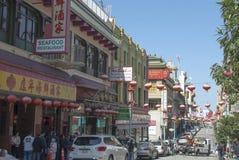 francisco porcelanowy miasteczko San Świętowanie z Chińskimi latarkami obraz stock
