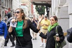 francisco protest san Royaltyfria Bilder