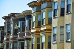 Francisco-Reihen-Häuser Lizenzfreie Stockfotografie