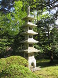 francisco san Ιαπωνικός κήπος τσαγιού στο χρυσό πάρκο πυλών Άνοιξη παγόδα μικρή Στοκ Εικόνες