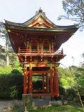 francisco san Ιαπωνικός κήπος τσαγιού στο χρυσό πάρκο πυλών Κόκκινη παγόδα Στοκ Εικόνες