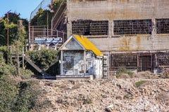 francisco san Sikt på fängelset Alcatraz Maximal federalt fängelse för hög säkerhet arkivfoton