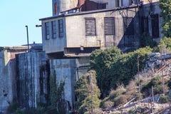 francisco san Sikt på fängelset Alcatraz Maximal federalt fängelse för hög säkerhet royaltyfri fotografi