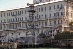francisco san Sikt på fängelset Alcatraz Maximal federalt fängelse för hög säkerhet arkivbilder