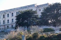 francisco san Sikt p? f?ngelset Alcatraz Maximal federalt f?ngelse f?r h?g s?kerhet royaltyfria foton