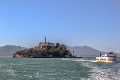 francisco san Sikt p? f?ngelset Alcatraz Maximal federalt f?ngelse f?r h?g s?kerhet arkivfoton