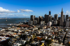 Francisco-Stadt Scape Lizenzfreies Stockfoto