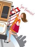 francisco wakacje San royalty ilustracja