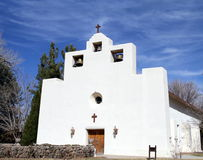 Franciszkański misja kościół w Tularosa, Nowym - Mexico zdjęcie stock