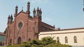 Franciszkańskiego sanktuarium panoramiczny widok w Mortara, Pv, Włochy zbiory wideo