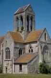 Francja Świątobliwy Germain kościół Cléry en Vexin Obraz Stock