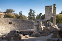 Francja, Arles rzymski theatre Fotografia Stock