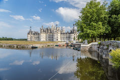 Francja Boathouse przy Królewskim kasztelem Chambord Obraz Royalty Free